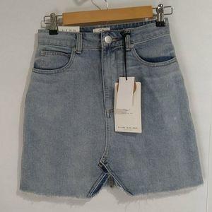 91 Cotton On A-Line Mini Denim Skirt